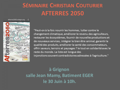 Seminaire Christian Couturier AFTERRES 2050