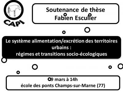 Soutenance de thèse Fabien Esculier
