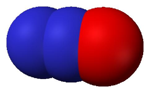 Géométrie compacte du protoxyde d'azote, N₂O - Ben Mills - 2007 - domaine public