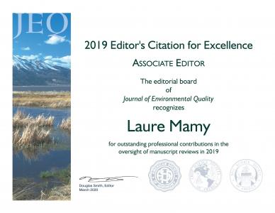 Félicitations à Laure Mamy
