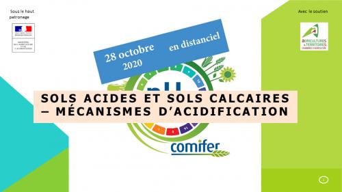 Sols acides et sols calcaires - Rappels des mécanismes d'acidification