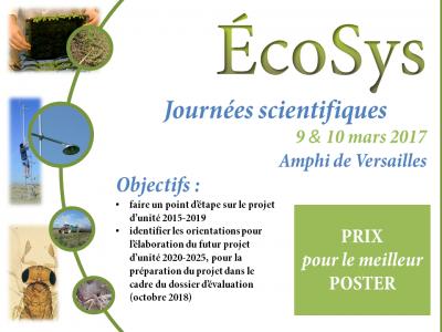 Journées scientifiques EcoSys