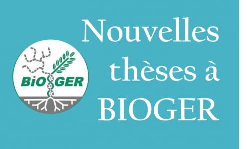 Nouvelles thèses à Bioger