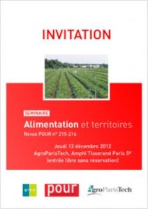 Séminaire Alimentation et territoires, Revue POUR n° 215-216